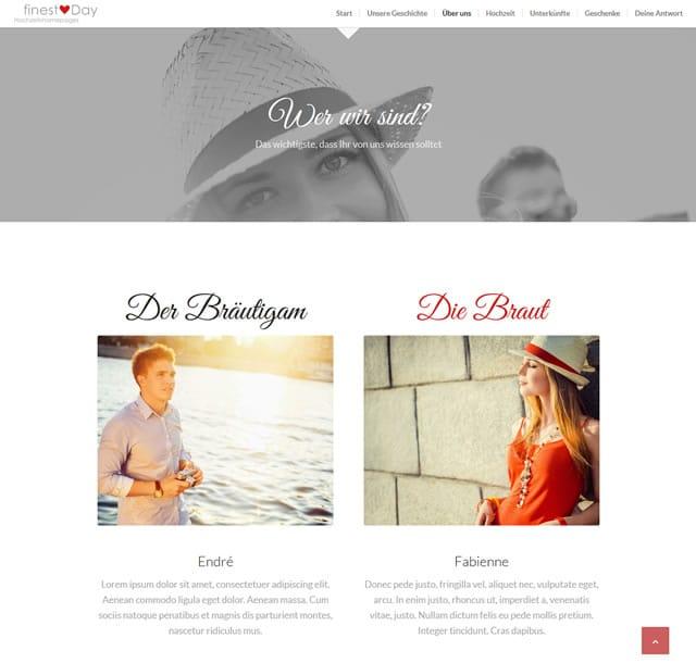 zurckweiter - Hochzeitshomepage Beispiele